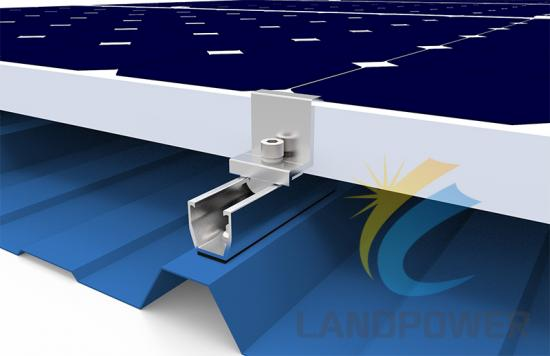 Trapezoidal Roof Multi Rail Solar Mounting